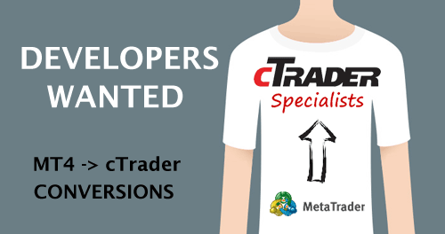 cTrader Developers Wanted