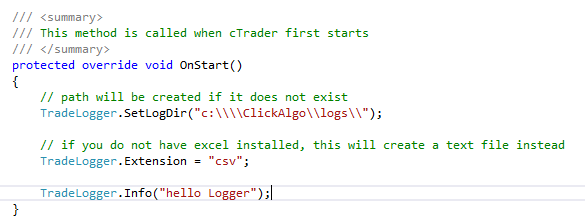 cTrader Data Analysis Code Example