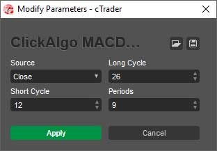 ctrader macd adjustable parameters