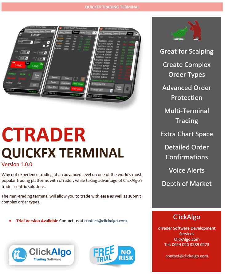 cTrader QuickFx Trading Terminal Promotion