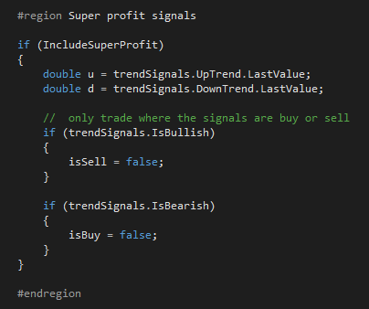 ctrader trend signals code snippet