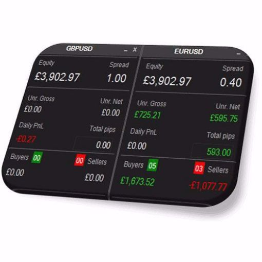 cTrader Forex Account Information Panel