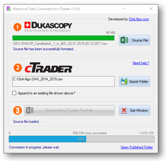cTrader Market Data