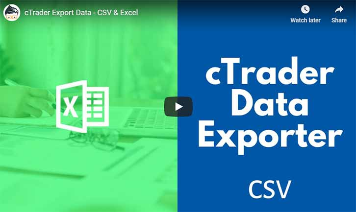 cTrader CSV Data Export Video