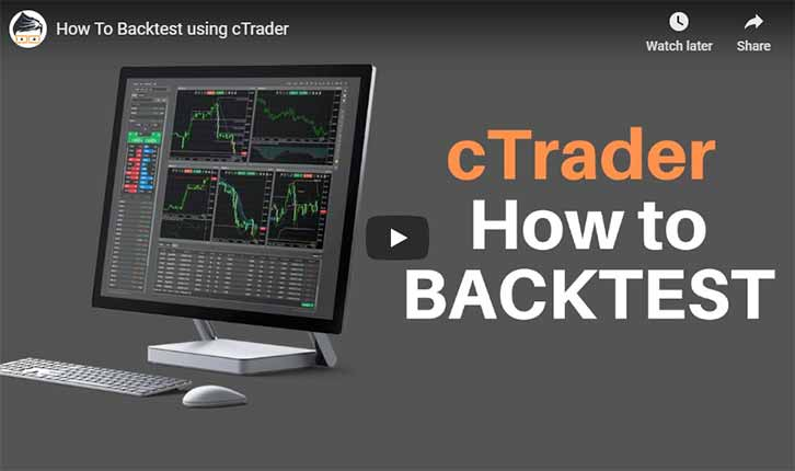 cTrader How to Backtest Video