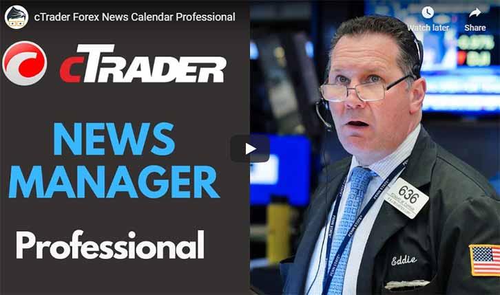 cTrader News Calendar Video