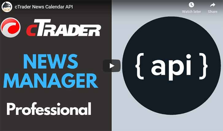 cTrader News Manager API Video