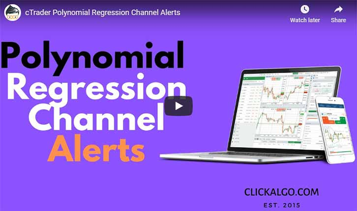 cTrader Polynomial Regression Channel